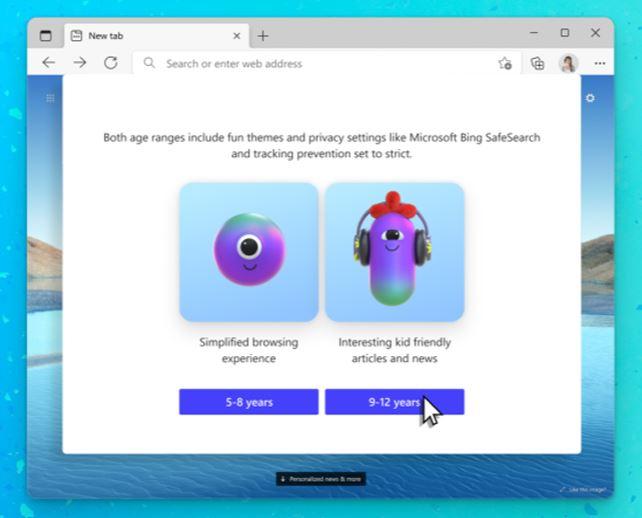 اختيار الفئة العمرية المناسبة للأطفال - مايكروسوفت