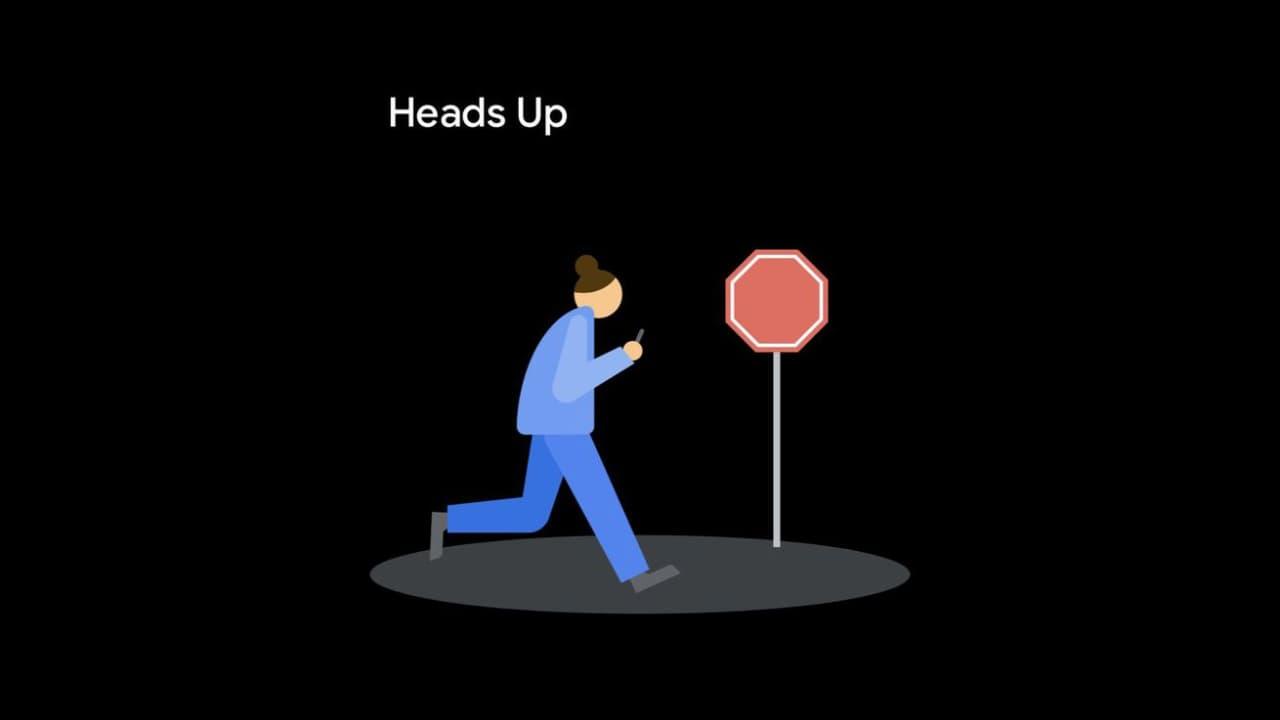 ميزة Heads Up - تطبيق Digital Wellbeing