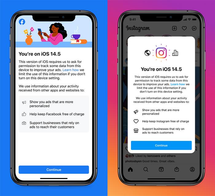 الشاشة التعليمية من فيسبوك وانستجرام - شفافية تتبع التطبيقات