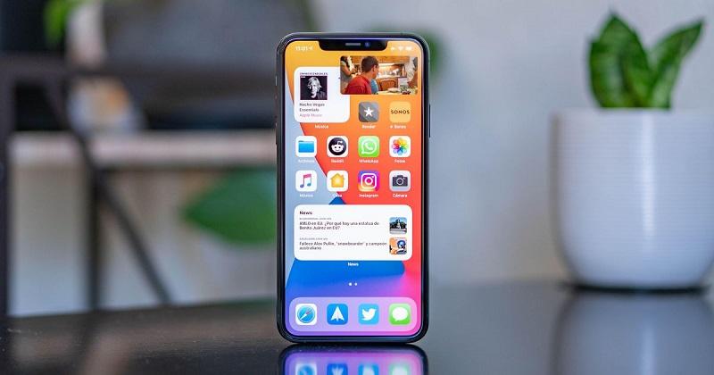 واجهة الشاشة الرئيسية في iOS 14.5 - آيفون - مميزات هواتف الآيفون