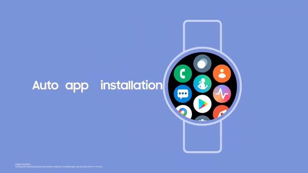 تثبيت تلقائي للتطبيقات المتوافقة مع الهواتف الذكية - برنامج الساعات الذكية