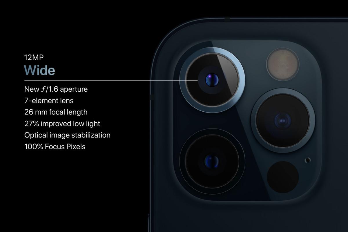 كاميرات ايفون 12 برو ماكس