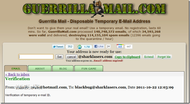 موقع guerrillamail