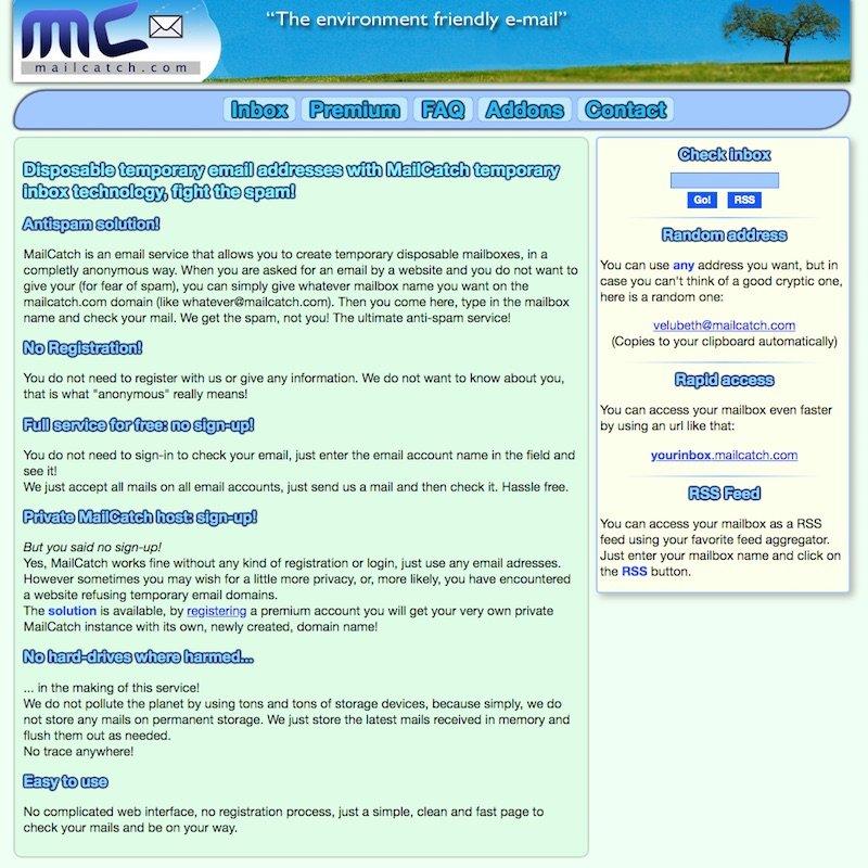 موقع mailcatch