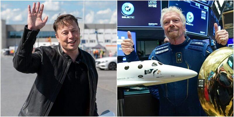 ايلون ماسك وريتشارد برانسون - ايلون ماسك تذكرة رحلة على طائرة ريتشارد برانسون