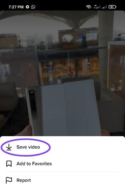 حفظ الفيديو بشكل مباشر من تيك توك