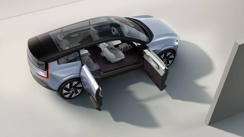 أبواب سيارة فولفو Concept Recharge - مفهوم السيارات الكهربائية