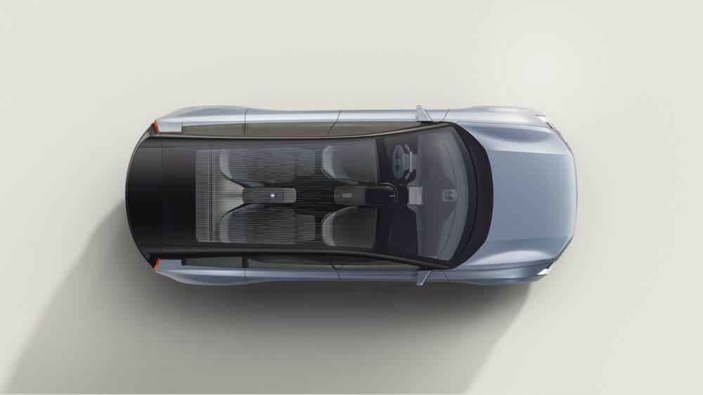 سيارة فولفو Concept Recharge من الأعلى - مفهوم السيارات الكهربائية