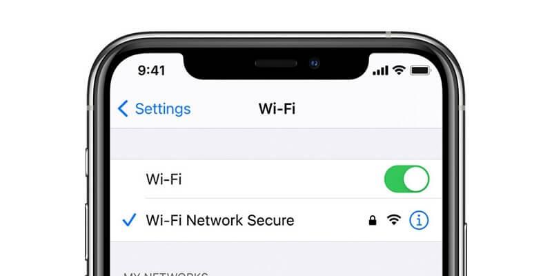 شبكة الـ Wi-Fi على الآيفون - نظام iOS 14.7