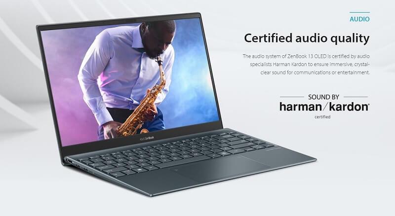 الصوت - ASUS ZenBook 13 OLED