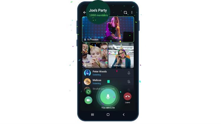 تيليجرام - مكالمات الفيديو الجماعية في تيليجرام
