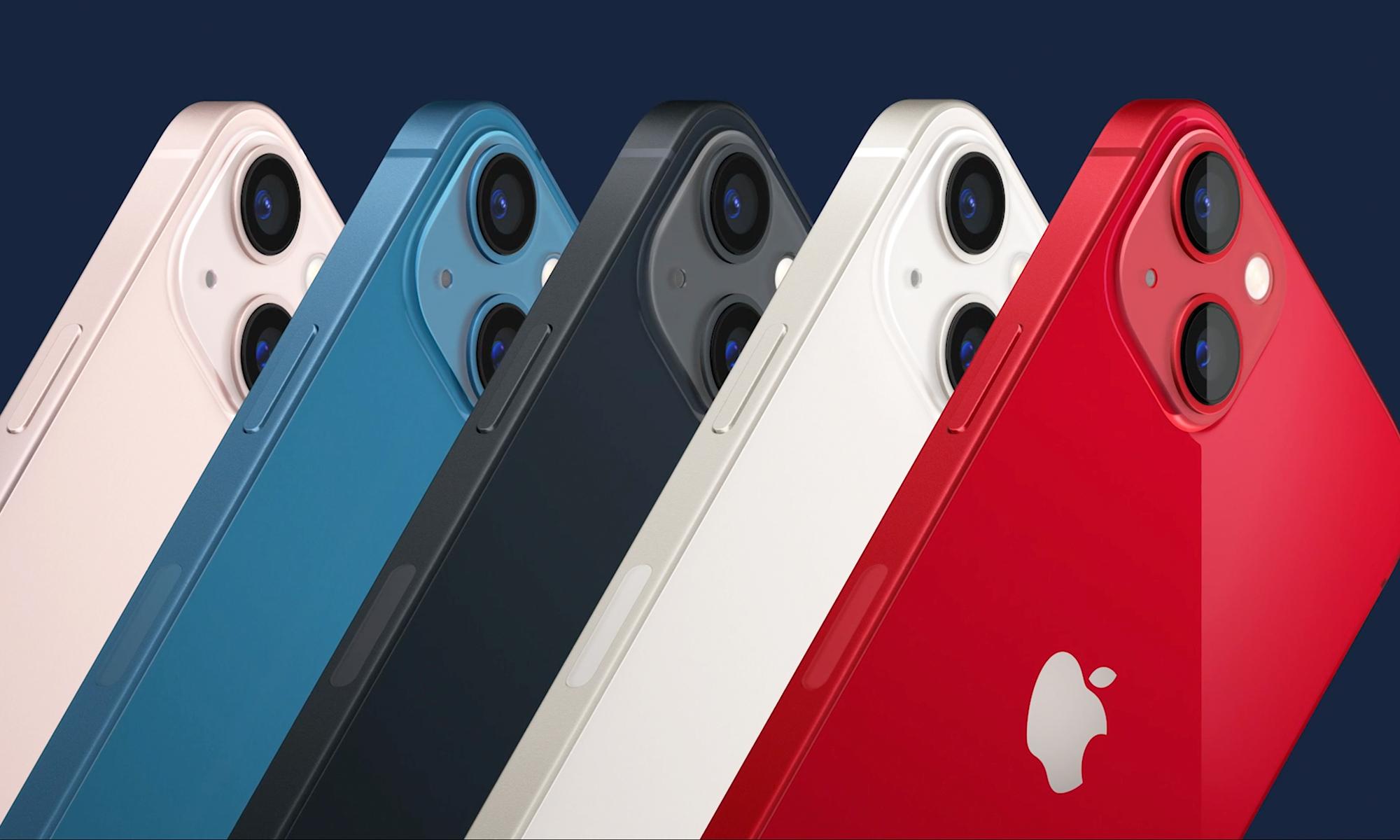 ألوان هاتف ايفون 13 ميني