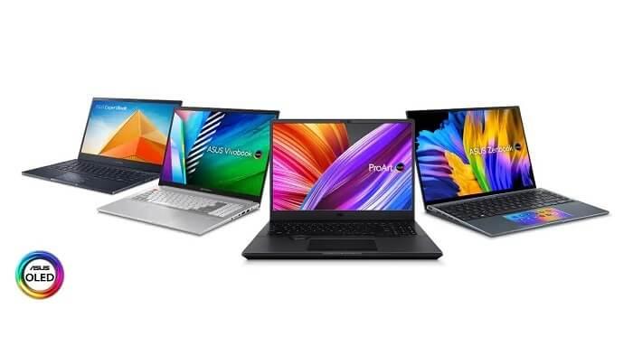 مجموعة متنوعة من لابتوبات أسوس أوليد - شاشات OLED