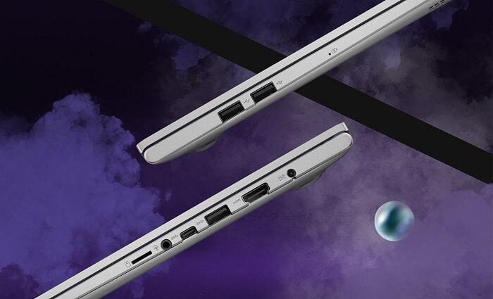 منافذ الإدخال والإخراج - ASUS VivoBook 15 OLED (K513)