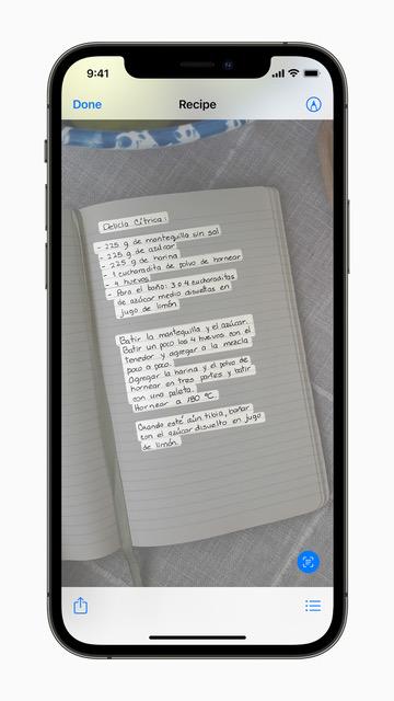 ميزة Live Text لنسخ النصوص - أبرز 5 مزايا على تطبيق الصور في iOS 15