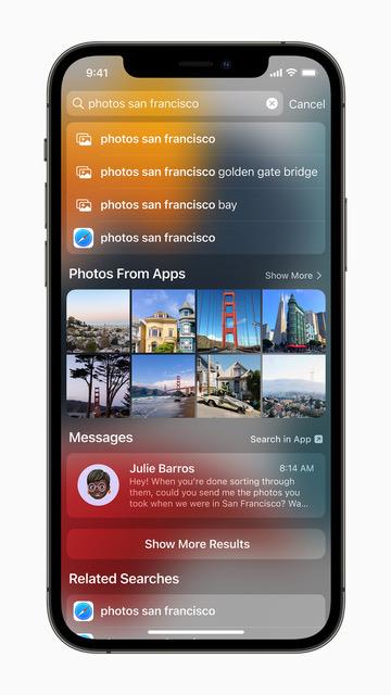 ميزة Spotlight - أبرز 5 مزايا على تطبيق الصور في iOS 15