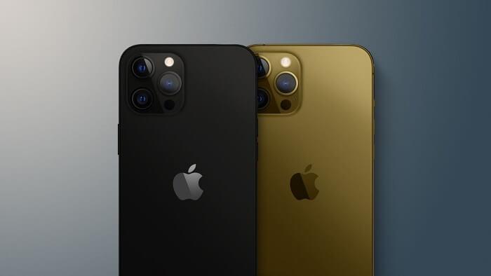 هاتفي آيفون 13 باللون الأسود غير اللامع واللون البرونزي - أبرز شائعات هواتف الآيفون 13
